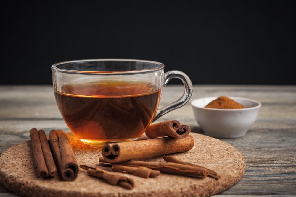 taza de té de canela